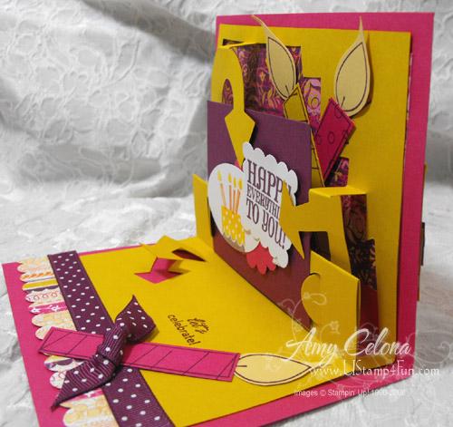 Bigz XL Die 'Look Here' Birthday Pop Up Card