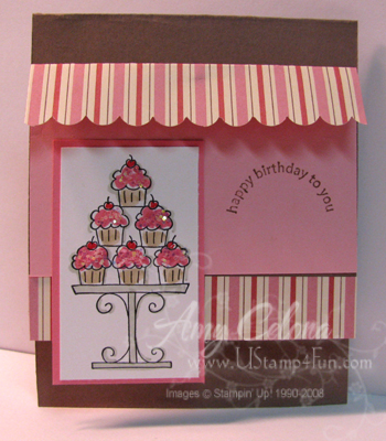 Crazy for Cupcakes Birthday Card