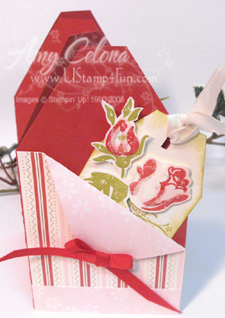 Rose Bookmark Card Closed