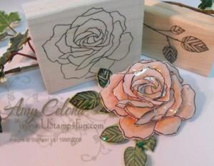 Rose Paper Pin