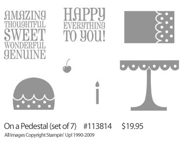 Stampin' Up! 'On A Pedestal' Birthday Set