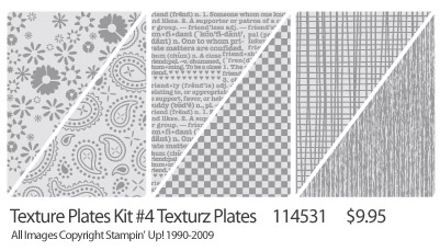 Texturz Plates - 'Texture Plates Kit #4'  Order #114531, $9.95