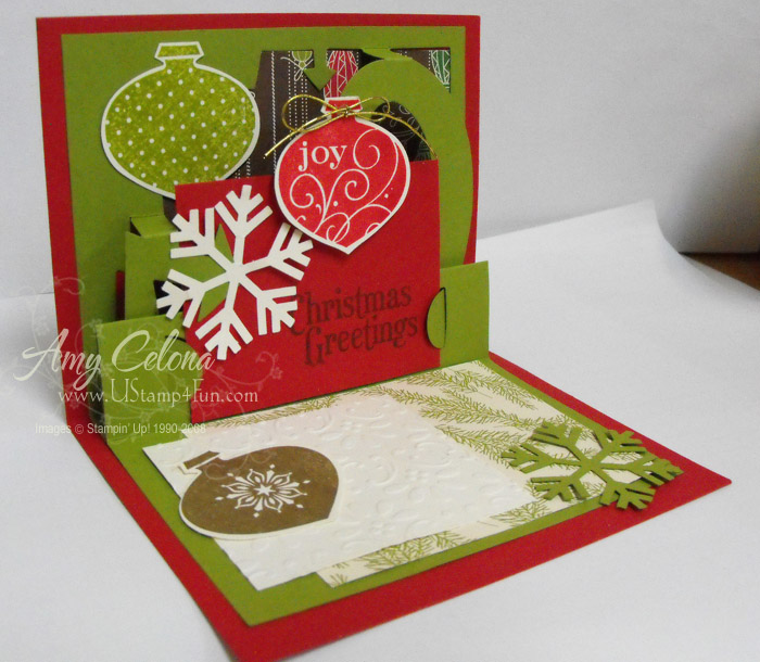 Pop Up Christmas Card - Ustamp4fun.com - Amy Celona, Stampin' Up ...