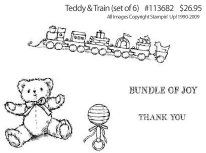 Stampin' Up! Set 'Teddy & Train' click for larger image