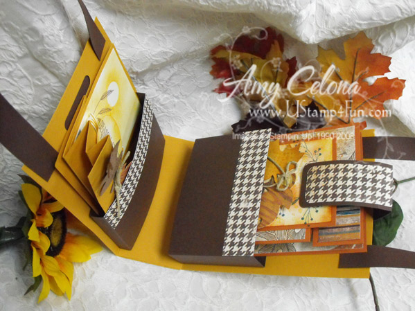 Autumn Days Card Holder Open - click for larger image