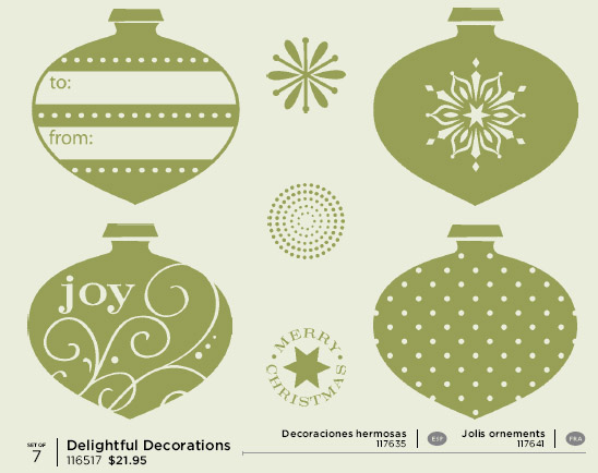 Delightful Decorations Trio of Ornaments