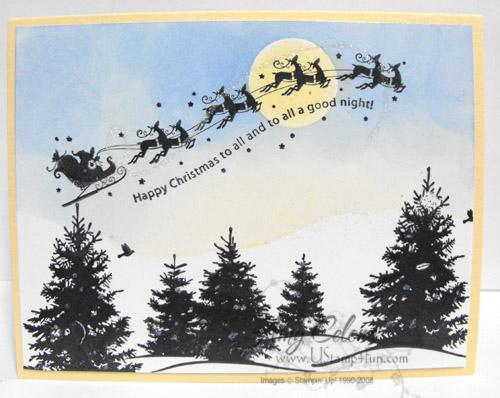 Wandering Santa Card