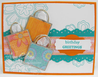 Birthday Gift Bag Card This Is A Fun Idea That I Saw Similarly Done Few Years Ago