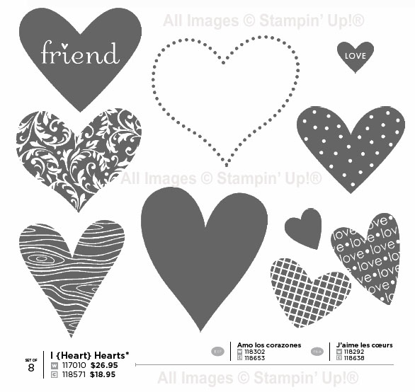 I[Heart]Hearts set from Stampin' Up!