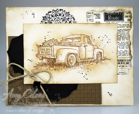 Countryside Vintage Truck Masculine Card