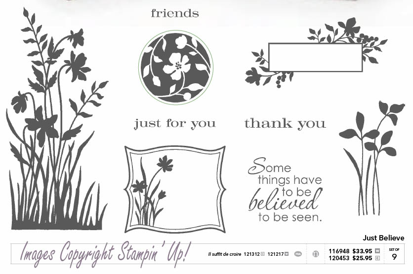 CLICK FOR ACTUAL SIZE - Just Believe Stampin' Up! Set