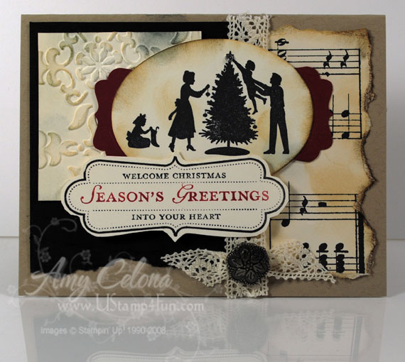 'Welcome Christmas' Victorian Card