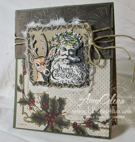 Paper Bag Gift Bag made with Good Cheer & Deck the Halls Designer Paper