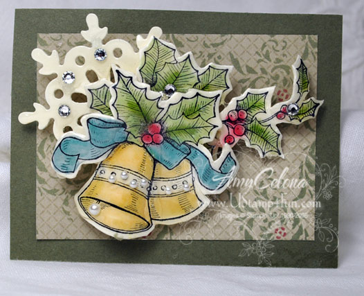 Bells & Boughs Paper Pin Technique