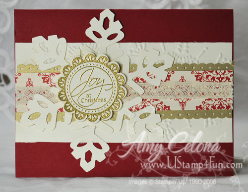 Tags Til Christmas Embossed Christmas Card