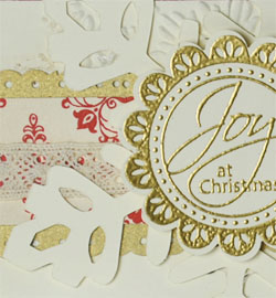 Tags Til Christmas Embossed Christmas Card Detail
