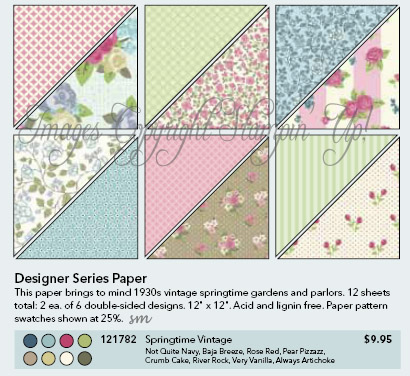 Stampin' Up!'s Springtime Vintage DSP