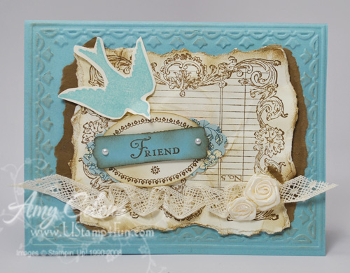 Stampin' Up! Noteably Ornate card