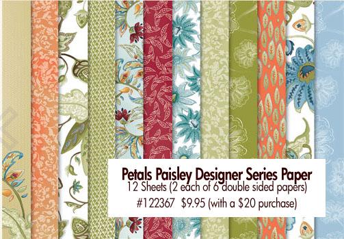 Petals Paisley Designer Series Paper