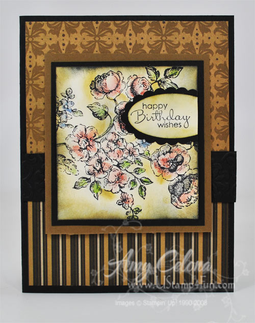 Stampin' Up! Elements of Style/Mocha Morning DSP