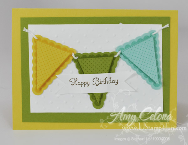 Pennant Parade Birthday Gift Card holder