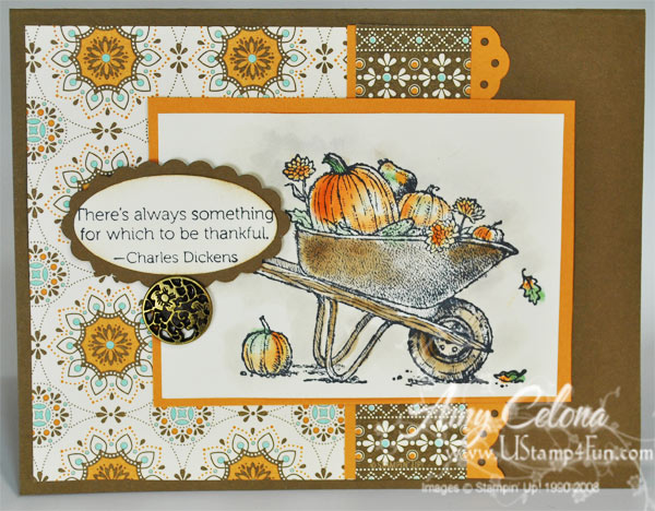 Stampin' Up! Always Thankful Thanksgiving card