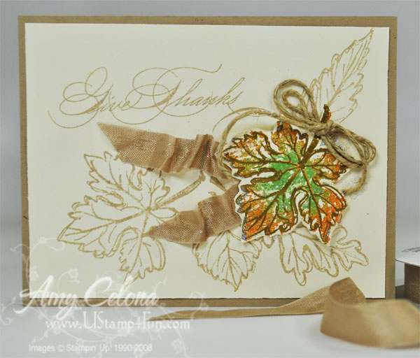Gently Falling 'Giving Thanks' card