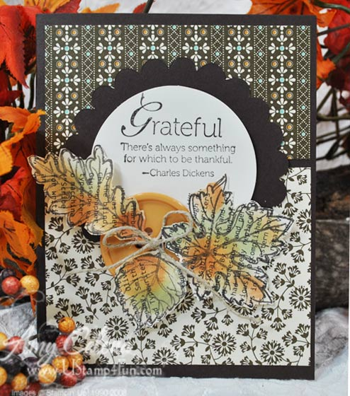 Gently Falling Thanksgiving Card