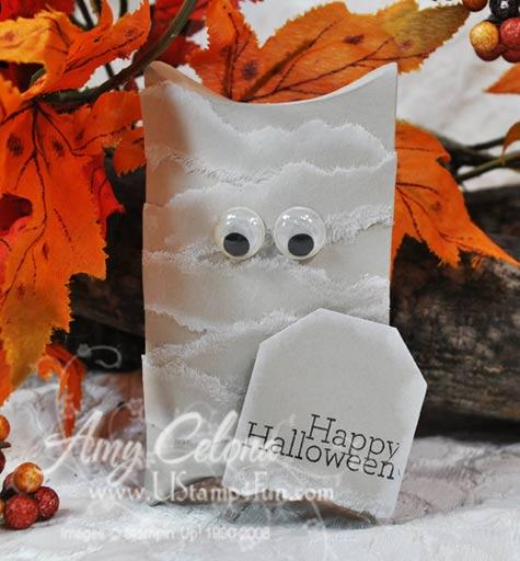 Halloween Mummy Box with Sizzix Pillow Box