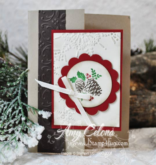 Stampin' Up! Pines & Pointsettias Gift Card Holder