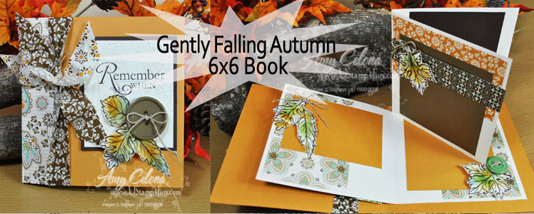 Gently Falling 6x6 Fold Out Book