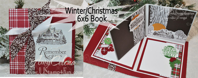 Christmas Lodge 6x6 Fold Out Book