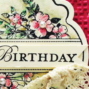 Apothecary Art Designer Cut Birthday Card