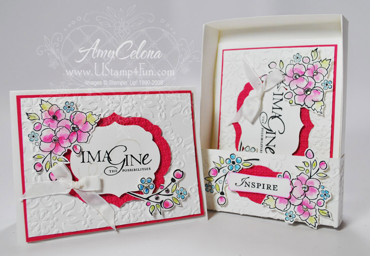 Bordering on Romance Stamp Set matching card and box