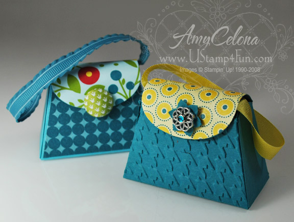 Petite Purse Bigz L Die with Summer Smooches Designer Paper