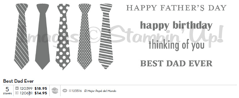CLICK FOR ACTUAL SIZE: Stampin' Up! Best Dad Ever Set