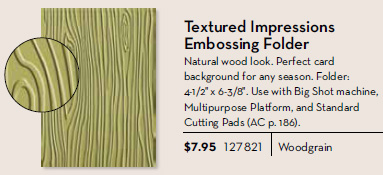 Woodgrain Textured Impressions Embossing folder
