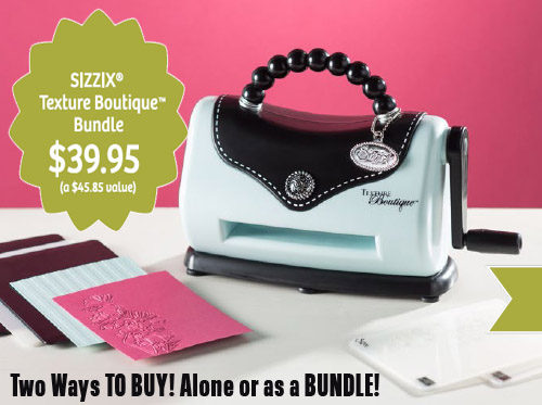 Limited Time Offer – Texture Boutique Embossing Machine!