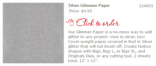 CLICK to buy - Silver Glimmer Paper