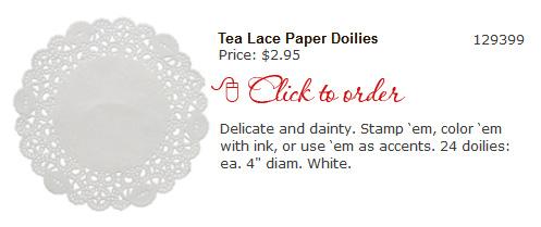 Tea Lace Paper Doilies
