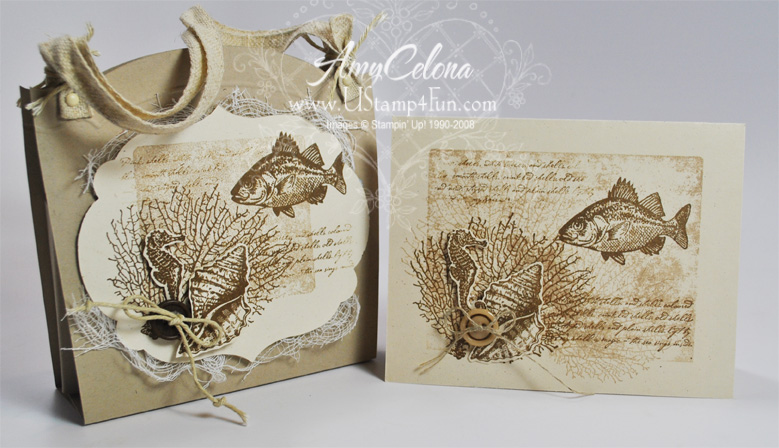 'By The Tide' Stationery Box & Matching Card