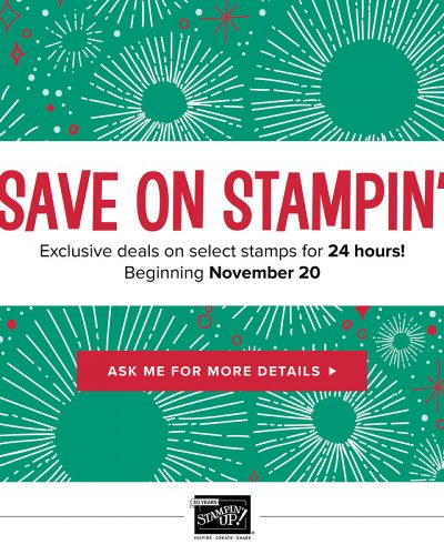 Stampin' Up! Black Friday Week Specials – New items every day!
