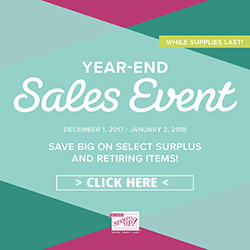 Stampin' Up!'s Year End Sales Event!