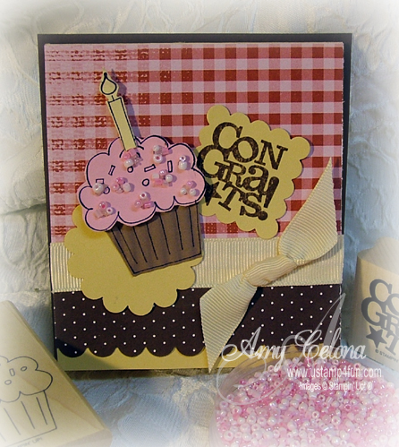 stampin up cards. Crazy for Cupcakes Gift Card