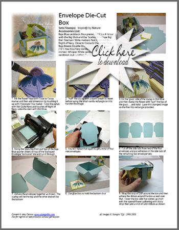 Envelope Die Cut Box Step-by-Step