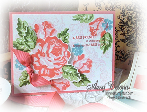 A Rose is a Rose, Stampin' Up! Set